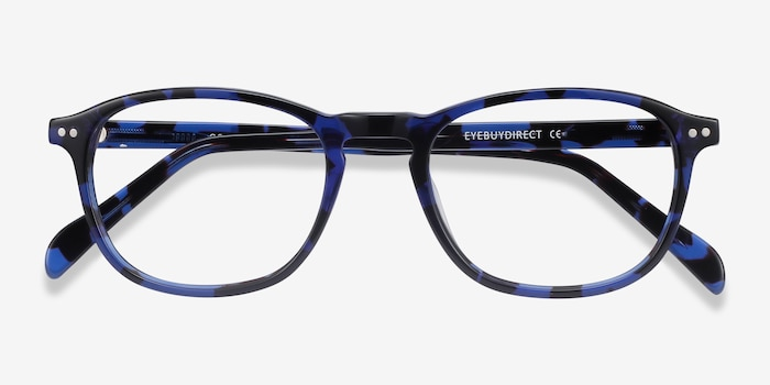 Socorro Blue Tortoise Acetate Eyeglass Frames from EyeBuyDirect, Closed View