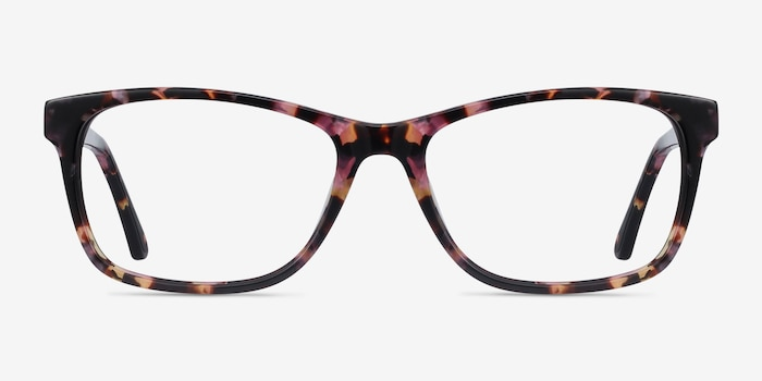 Annett Floral Acetate Eyeglass Frames from EyeBuyDirect, Front View