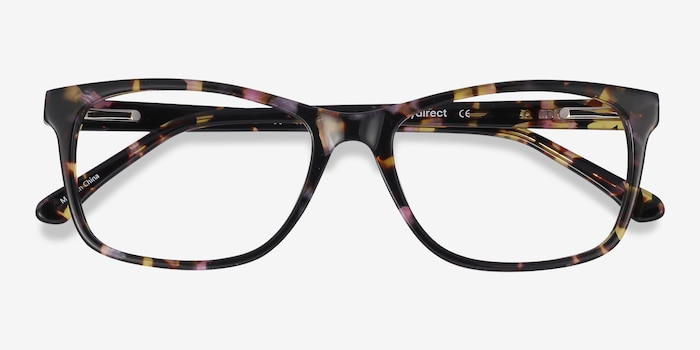 Annett Floral Acetate Eyeglass Frames from EyeBuyDirect, Closed View