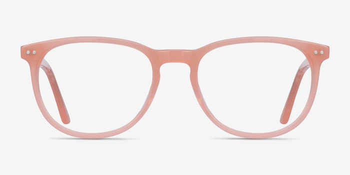 Cherbourg Coral Acetate Eyeglass Frames from EyeBuyDirect, Front View