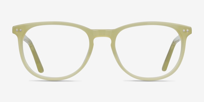 Cherbourg Lime Green Acetate Eyeglass Frames from EyeBuyDirect, Front View