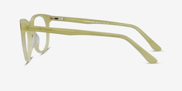Cherbourg Lime Green Acetate Eyeglass Frames from EyeBuyDirect, Side View