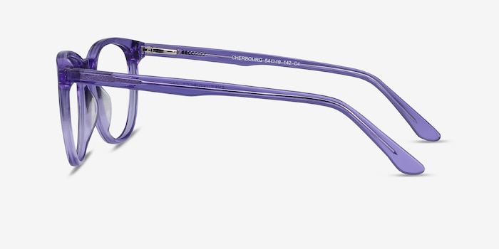 Cherbourg Purple Acetate Eyeglass Frames from EyeBuyDirect, Side View