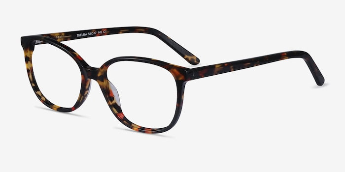 Thelma Tortoise Acetate Eyeglass Frames from EyeBuyDirect, Angle View