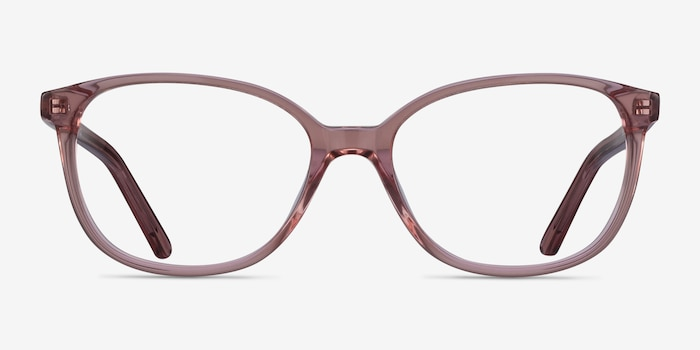 Thelma Pink Acetate Eyeglass Frames from EyeBuyDirect, Front View