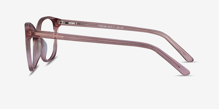 Thelma Pink Acetate Eyeglass Frames from EyeBuyDirect, Side View