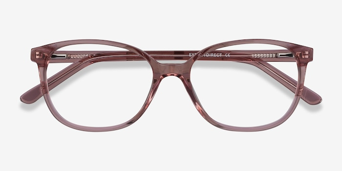 Thelma Pink Acetate Eyeglass Frames from EyeBuyDirect, Closed View