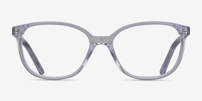 Thelma Transparent Acétate Montures de Lunettes d'EyeBuyDirect, Vue de Face