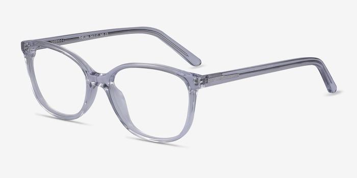 Thelma Transparent Acétate Montures de Lunettes d'EyeBuyDirect, Vue d'Angle