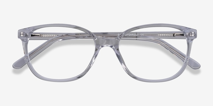 Thelma Clear Acetate Eyeglass Frames from EyeBuyDirect, Closed View