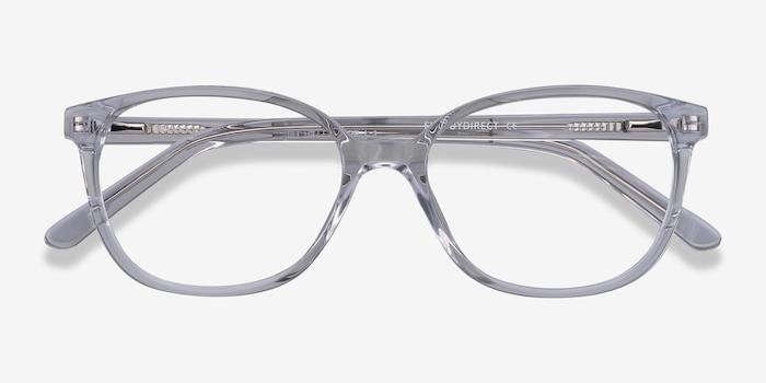 Thelma Transparent Acétate Montures de Lunettes d'EyeBuyDirect, Vue Rapprochée