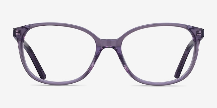 Thelma Purple Acetate Eyeglass Frames from EyeBuyDirect, Front View