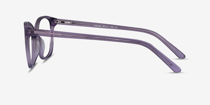 Thelma Purple Acetate Eyeglass Frames from EyeBuyDirect, Side View