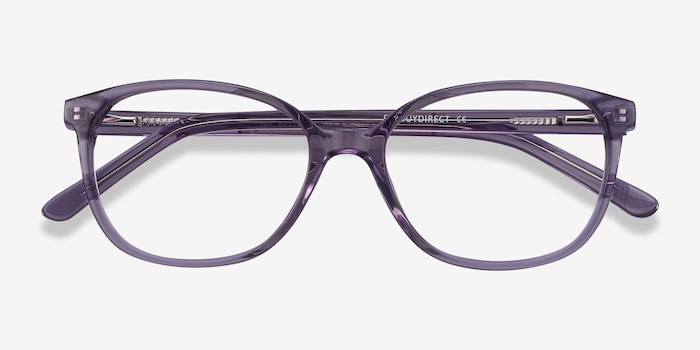 Thelma Purple Acetate Eyeglass Frames from EyeBuyDirect, Closed View