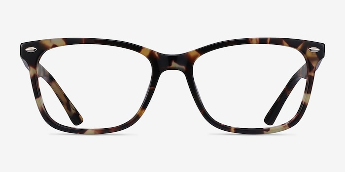 Varda Tortoise Acetate Eyeglass Frames from EyeBuyDirect, Front View