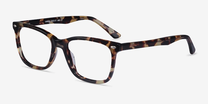 Varda Tortoise Acetate Eyeglass Frames from EyeBuyDirect, Angle View