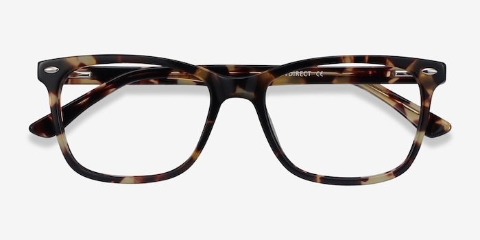 Varda Tortoise Acetate Eyeglass Frames from EyeBuyDirect, Closed View