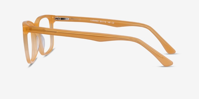 Lugano Light Orange Acetate Eyeglass Frames from EyeBuyDirect, Side View