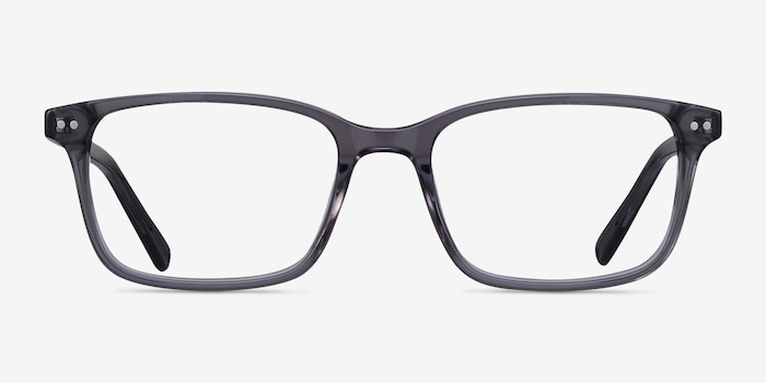 Basel Gray Acetate Eyeglass Frames from EyeBuyDirect, Front View
