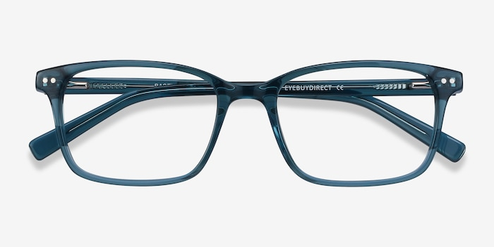 Basel Green Blue Acetate Eyeglass Frames from EyeBuyDirect, Closed View
