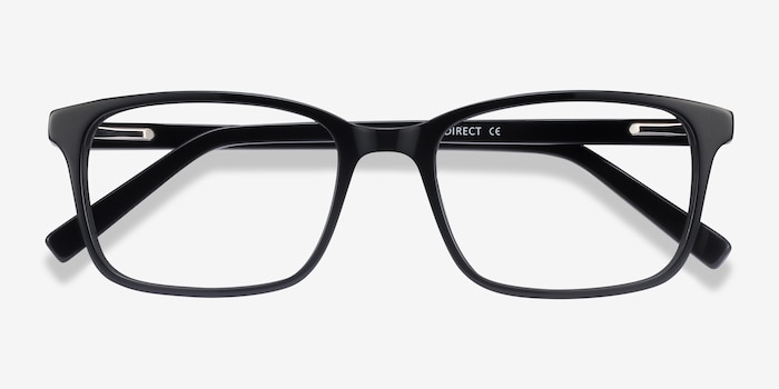 Clipperton Black Acetate Eyeglass Frames from EyeBuyDirect, Closed View
