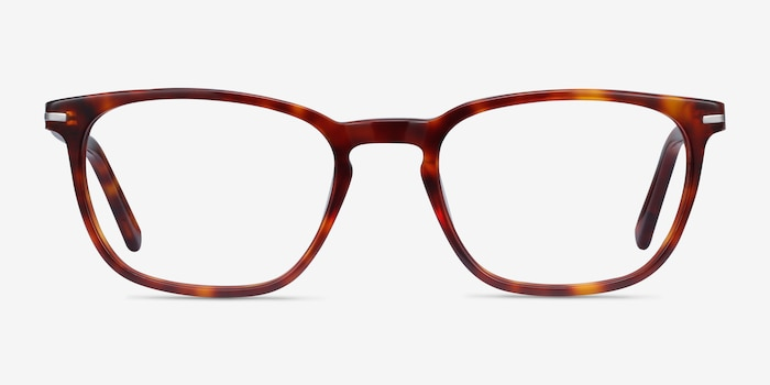 Camille Tortoise Acetate Eyeglass Frames from EyeBuyDirect, Front View
