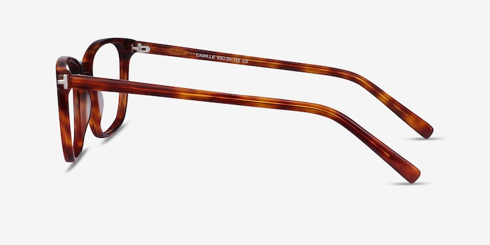 Camille Tortoise Acetate Eyeglass Frames from EyeBuyDirect, Side View
