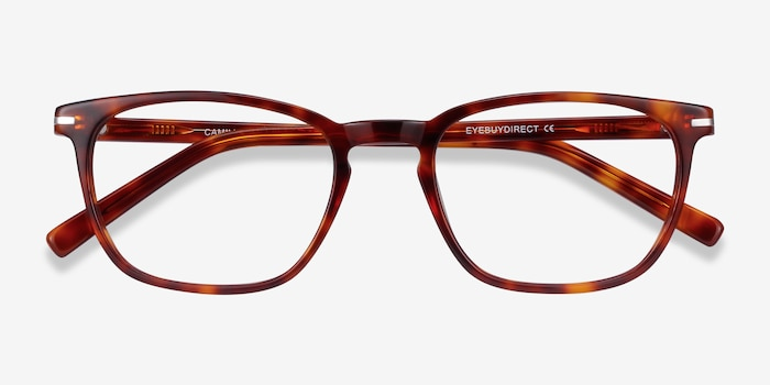 Camille Tortoise Acetate Eyeglass Frames from EyeBuyDirect, Closed View