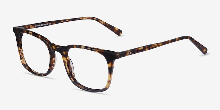 Gabor Brown Tortoise Acetate Eyeglass Frames from EyeBuyDirect, Angle View