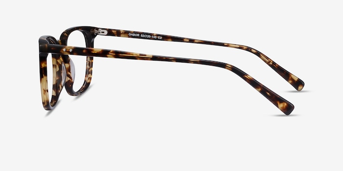 Gabor Brown Tortoise Acetate Eyeglass Frames from EyeBuyDirect, Side View