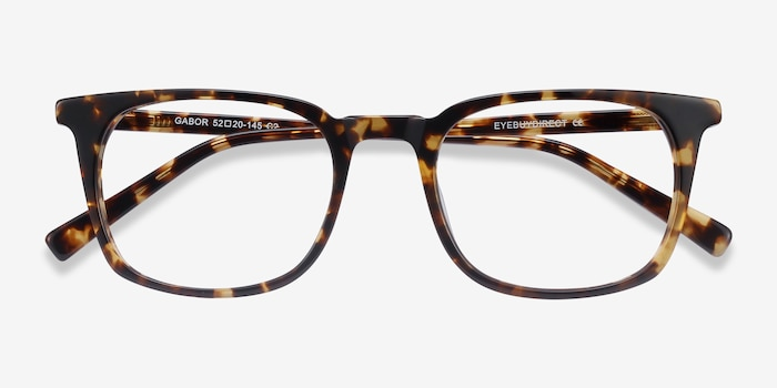Gabor Brown Tortoise Acetate Eyeglass Frames from EyeBuyDirect, Closed View