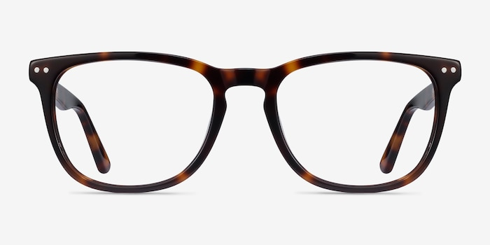 Gato Tortoise Acetate Eyeglass Frames from EyeBuyDirect, Front View