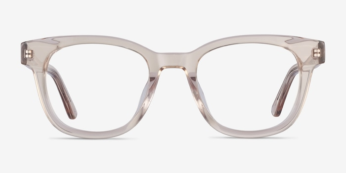 Lighthouse Champagne Acetate Eyeglass Frames from EyeBuyDirect, Front View