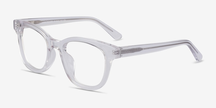 Lighthouse Clear Acetate Eyeglass Frames from EyeBuyDirect, Angle View