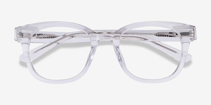 Lighthouse Clear Acetate Eyeglass Frames from EyeBuyDirect, Closed View