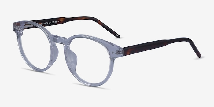 Manara Clear Acetate Eyeglass Frames from EyeBuyDirect, Angle View