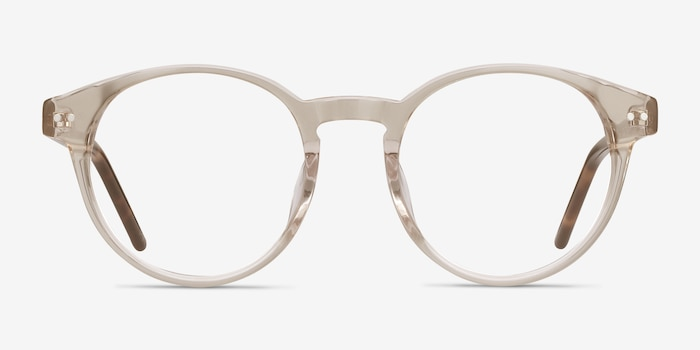 Manara Champagne Acetate Eyeglass Frames from EyeBuyDirect, Front View