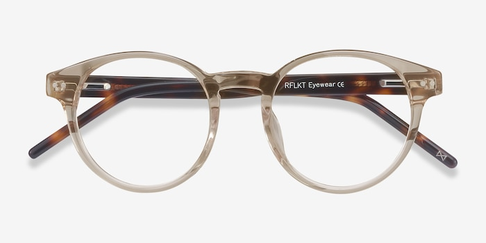 Manara Champagne Acetate Eyeglass Frames from EyeBuyDirect, Closed View