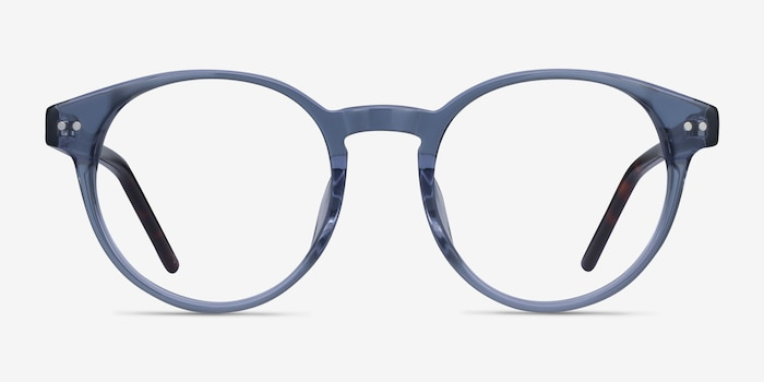 Manara Blue Gray Acetate Eyeglass Frames from EyeBuyDirect, Front View