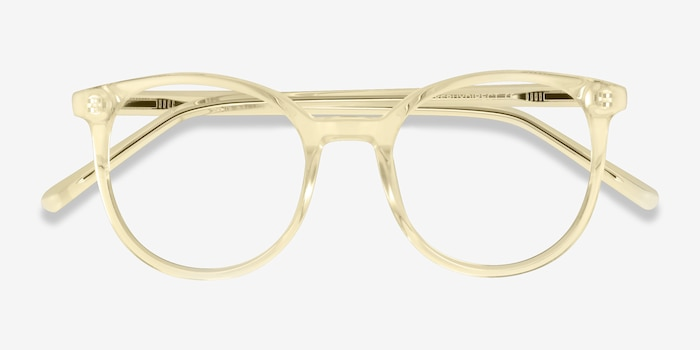 Noun Yellow Acetate Eyeglass Frames from EyeBuyDirect, Closed View