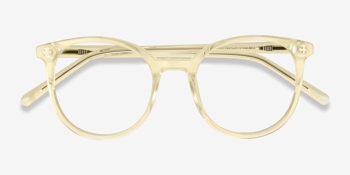 Noun Jaune Acétate Montures de Lunettes d'EyeBuyDirect, Vue Rapprochée