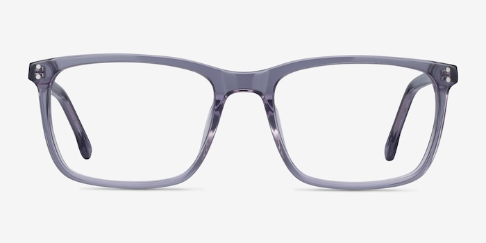 Connect Gray Acetate Eyeglass Frames from EyeBuyDirect, Front View