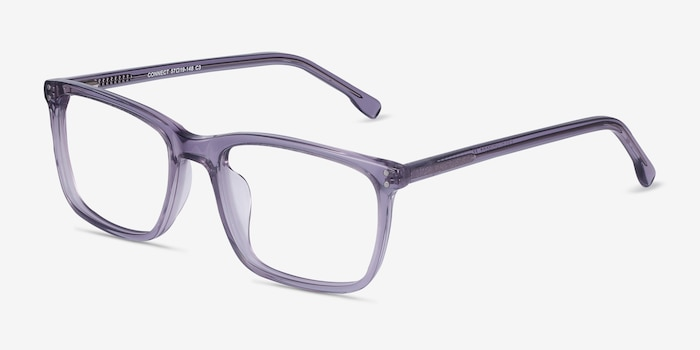Connect Gray Acetate Eyeglass Frames from EyeBuyDirect, Angle View