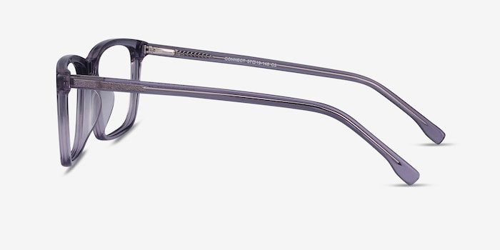 Connect Gray Acetate Eyeglass Frames from EyeBuyDirect, Side View