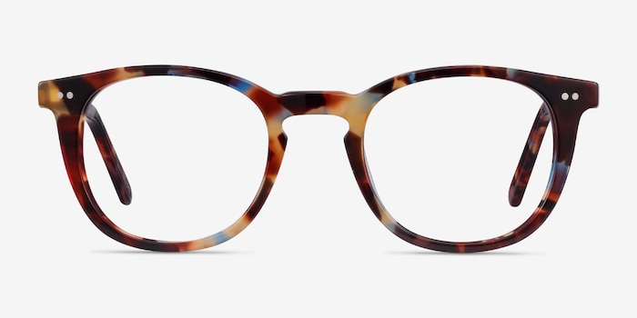 Ona Nebular Blue Acetate Eyeglass Frames from EyeBuyDirect, Front View