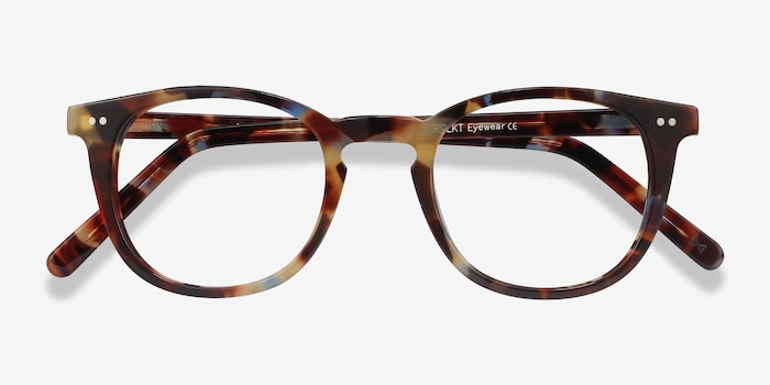 Ona Nebular Blue Acetate Eyeglass Frames from EyeBuyDirect, Closed View