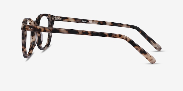 Ona Flecked Ivory Acetate Eyeglass Frames from EyeBuyDirect, Side View