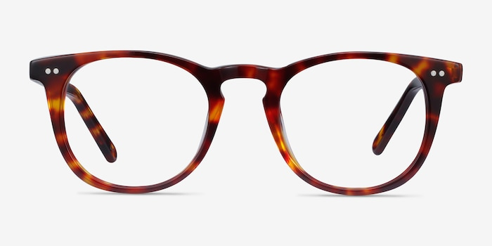 ONA Warm Tortoise Acetate Eyeglass Frames from EyeBuyDirect, Front View