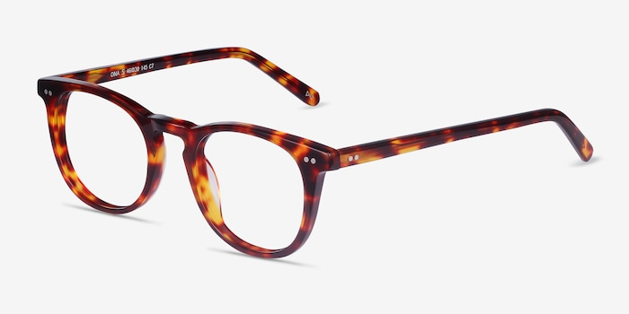 Ona Warm Tortoise Acetate Eyeglass Frames from EyeBuyDirect, Angle View