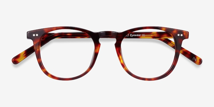 ONA Warm Tortoise Acetate Eyeglass Frames from EyeBuyDirect, Closed View